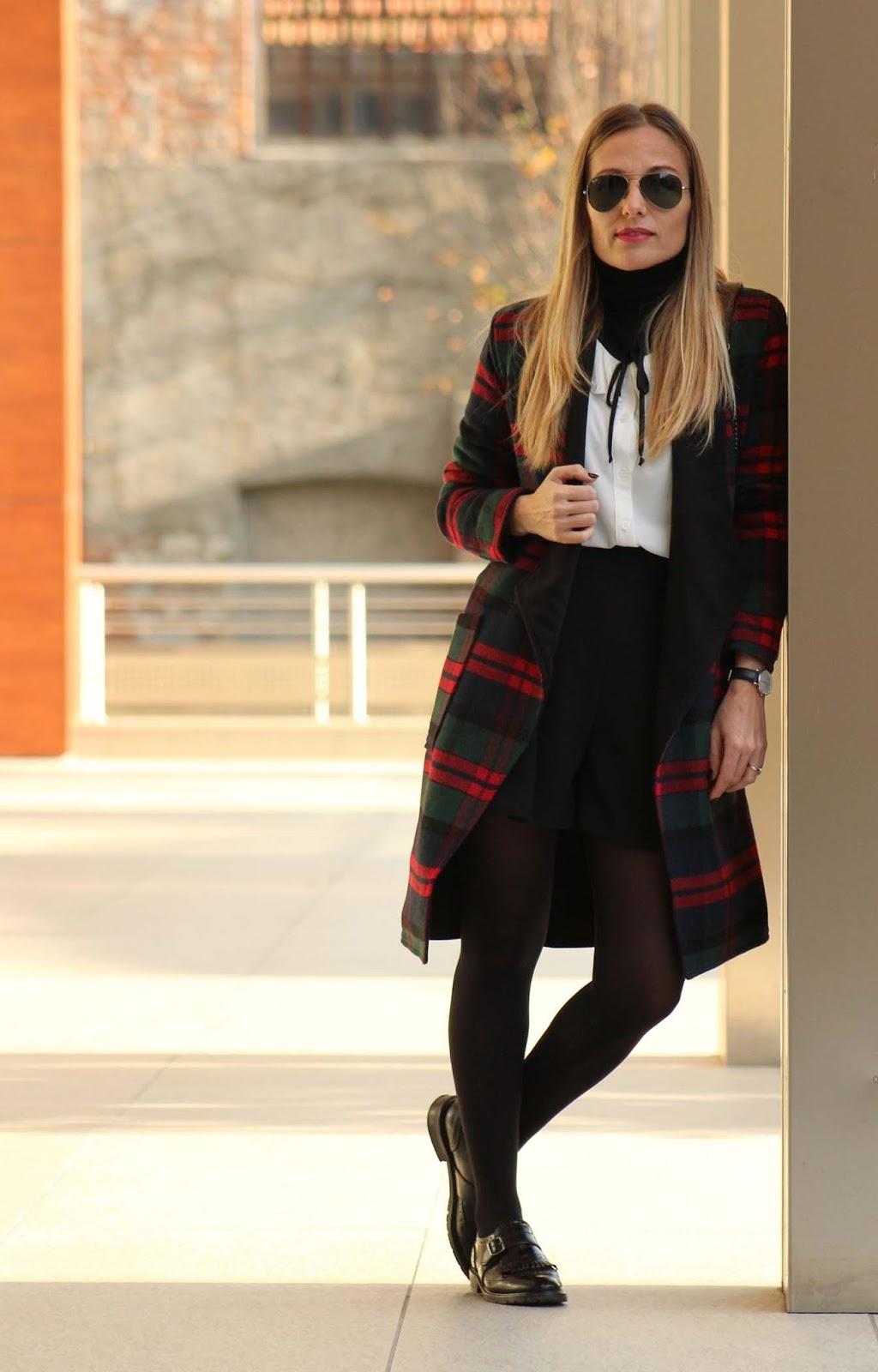 Eniwhere Fashion - office look - plaid coat