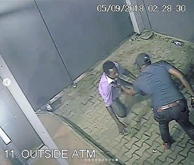 Shocking Moment A Man Was Robbed & Killed By Gunmen At ATM In Lagos