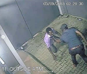 WANTED ALERT!! See Shocking Moment A Man Was Robbed & Killed By Shooters At ATM In Lagos (Photos)