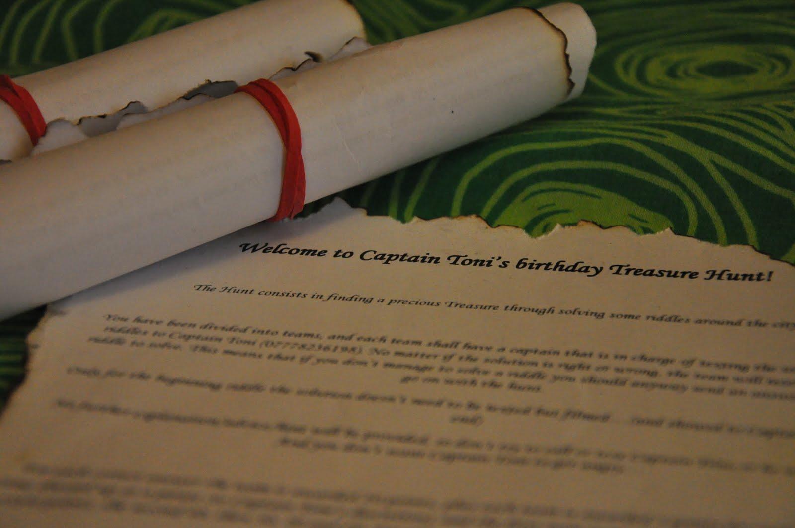 Tony S Blog Captain Toni S Birthday Treasure Hunt