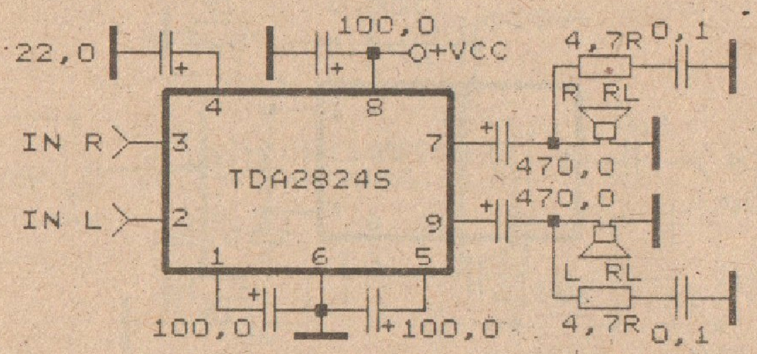 low power audio amplifier circuit with ic tda2824s diy circuit rh avecircuits blogspot com 6L6 Tube Amplifier Schematic Amplifier Circuit