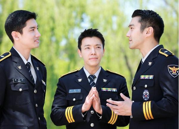 Changmin, Donghae dan Siwon Super Tampan Pakai Seragam Polisi