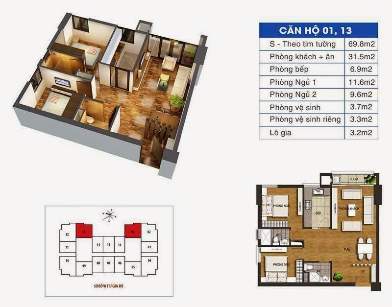 diện tích căn hộ ct36 định công