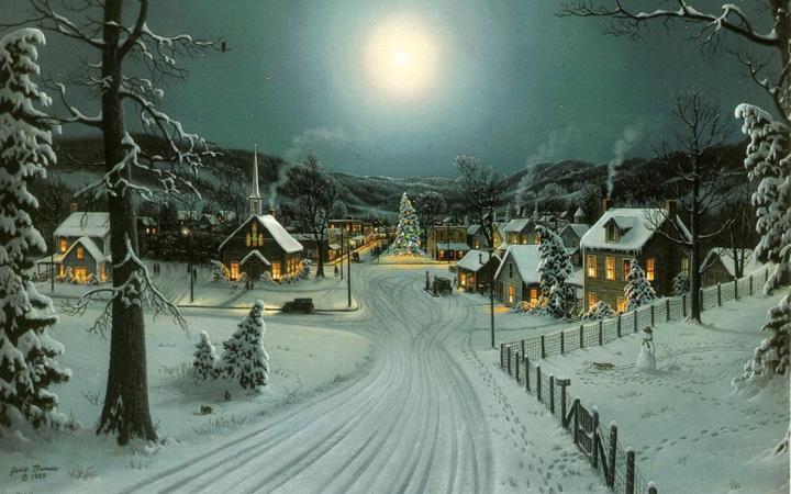 şehirde kış resimleri