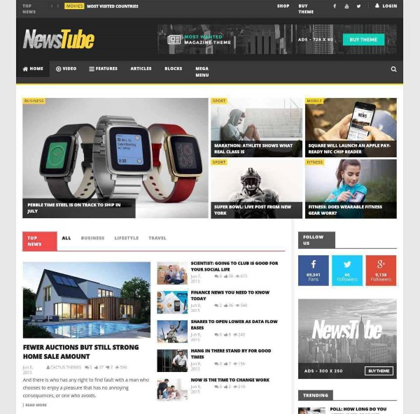 NewsTube video magazine