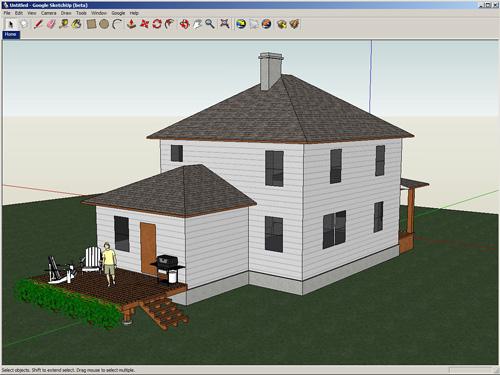 تحميل برنامج SketchUp Make 2013 مجانا للتصميم ثلاثي الابعاد