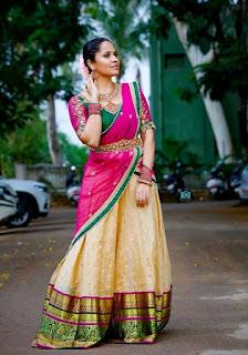 Telugu Television Actress Anasuya Latest Picture shoot In red lehenga Choli (5)