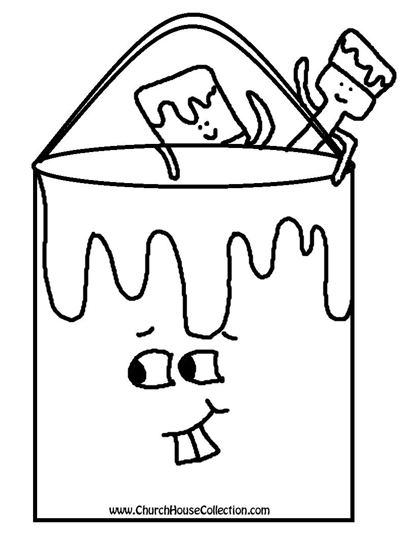 Uncategorized Paint Brush Coloring Page paint bucket coloring page photo1