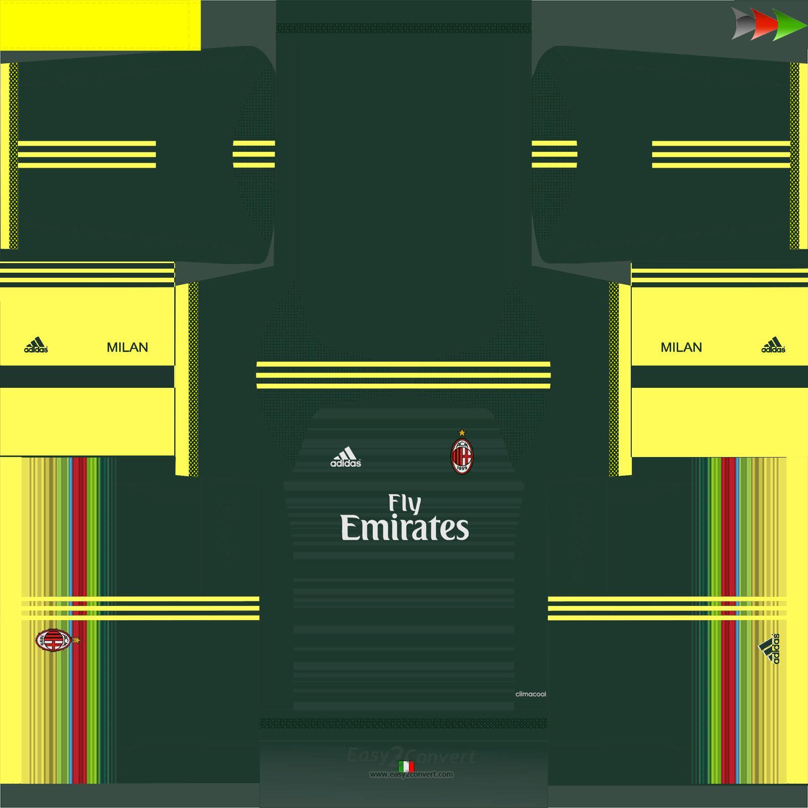 ultigamerz: PES 2015 AC Milan 2015-16 Third Kit