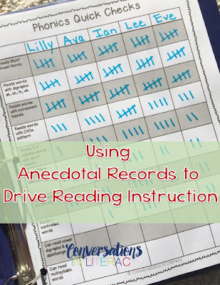 Organized and Purposeful Planning Using Anecdotal Records