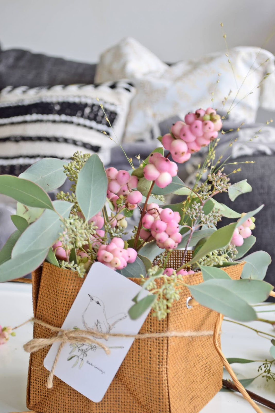 Basket with flowers diy