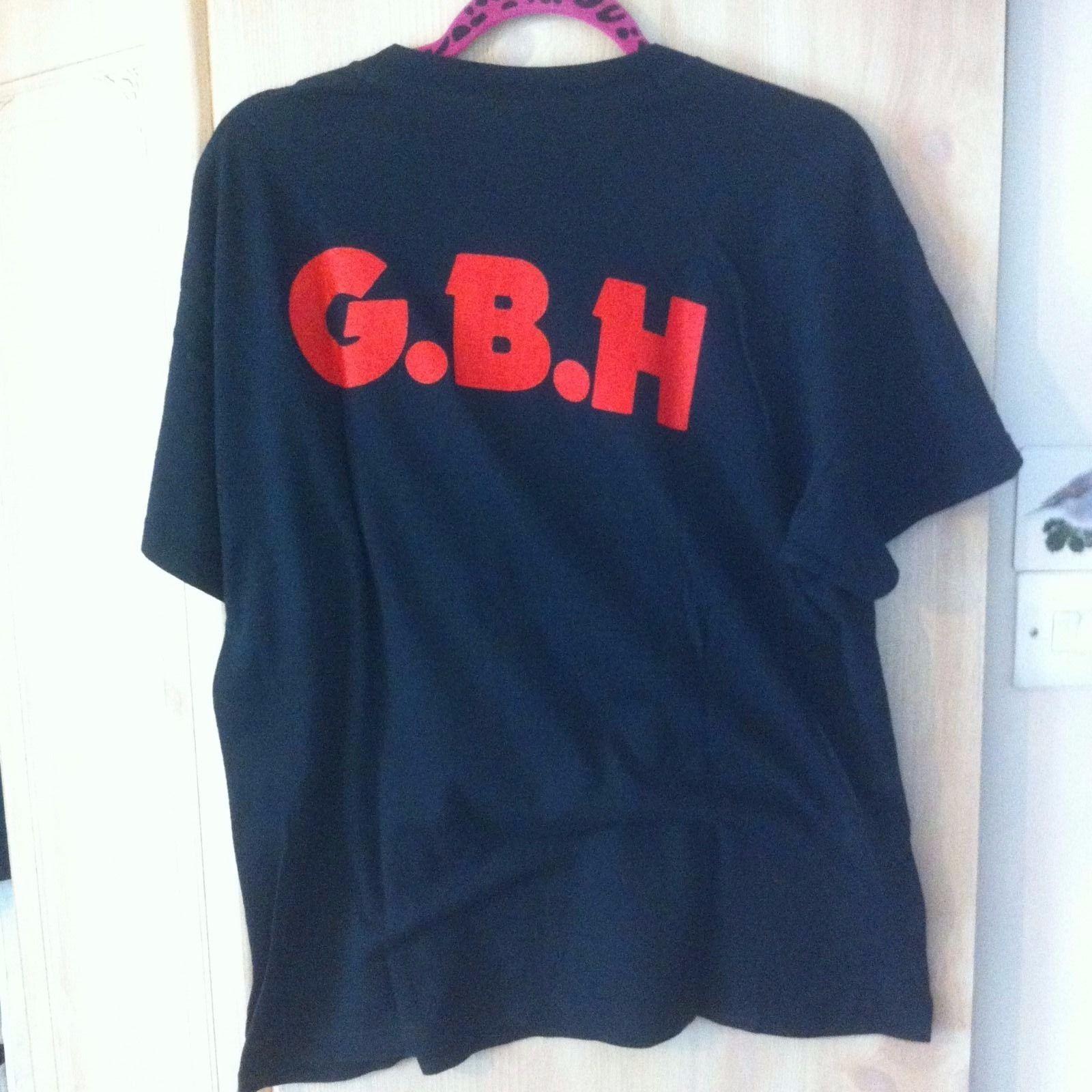 2c2baa96 GBH Hardcore Punk Rock London Metal Vintage Style Cotton T-shirt
