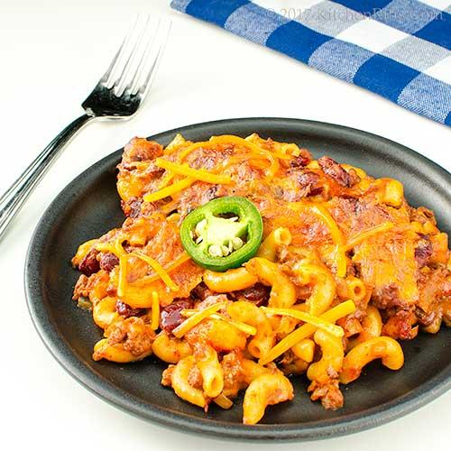 Real-Chili Chili Mac Casserole