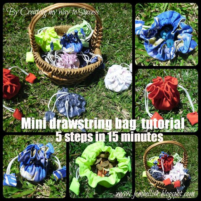 Mini Drawstring Bags