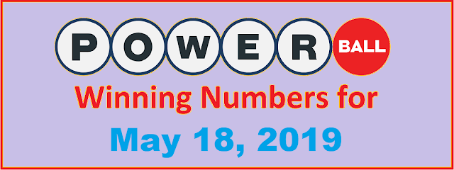 PowerBall Winning Numbers for Saturday, May 18, 2019
