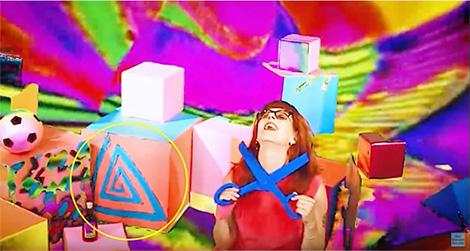 captura del video de sex stains con el logo de pedofília