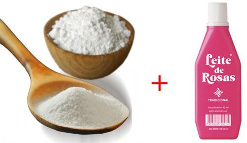 Bicarbonato de Sódio e Leite de Rosas