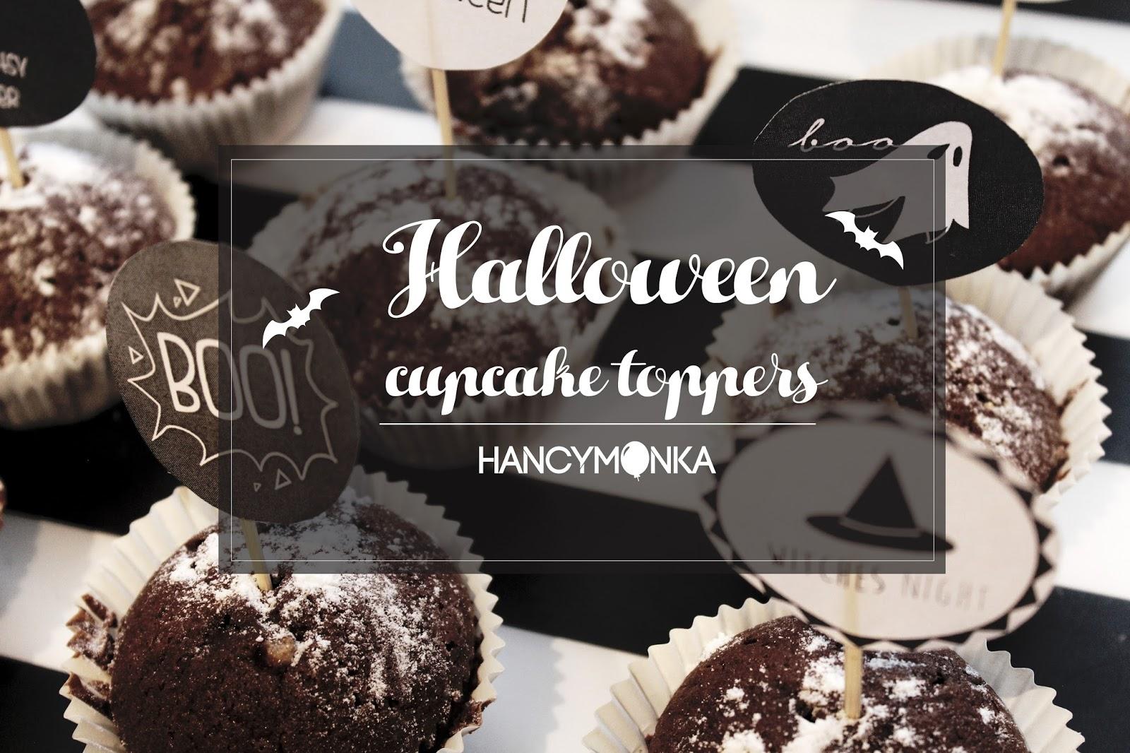 blog, hancymonka, cupcake, cupcakes, cake toppers, toppers, cupcake toppers, grafika, darmowe grafiki, design, projekty, freebies, diy, zrób to sam, parenting, halloween