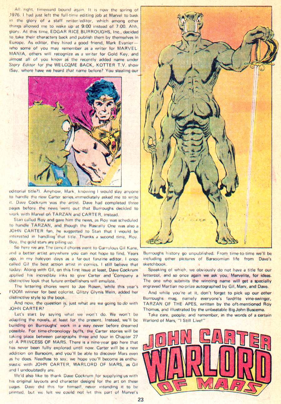 John Carter Warlord of Mars issue 1 - Page 19