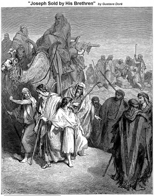 Joseph sold by his brethren - Gustave Dore