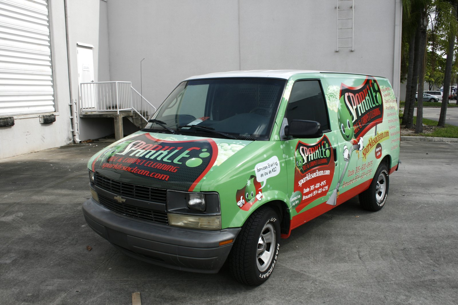 fort lauderdale fl chevy astro van car wrap for carpet cleaing company sparkle so clean car wrap solutions [ 1600 x 1067 Pixel ]