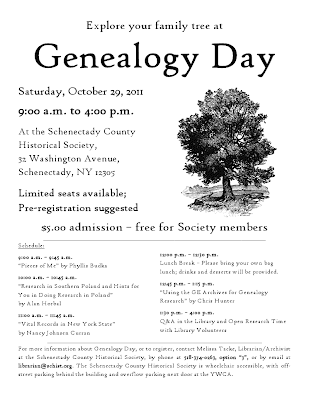 Genealogy Day at Schenectady Co Historical