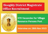 District Magistrate Hooghly Recruitment 2016 Walk in