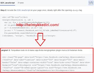 Cara memasang Fanspage didalam Blog2