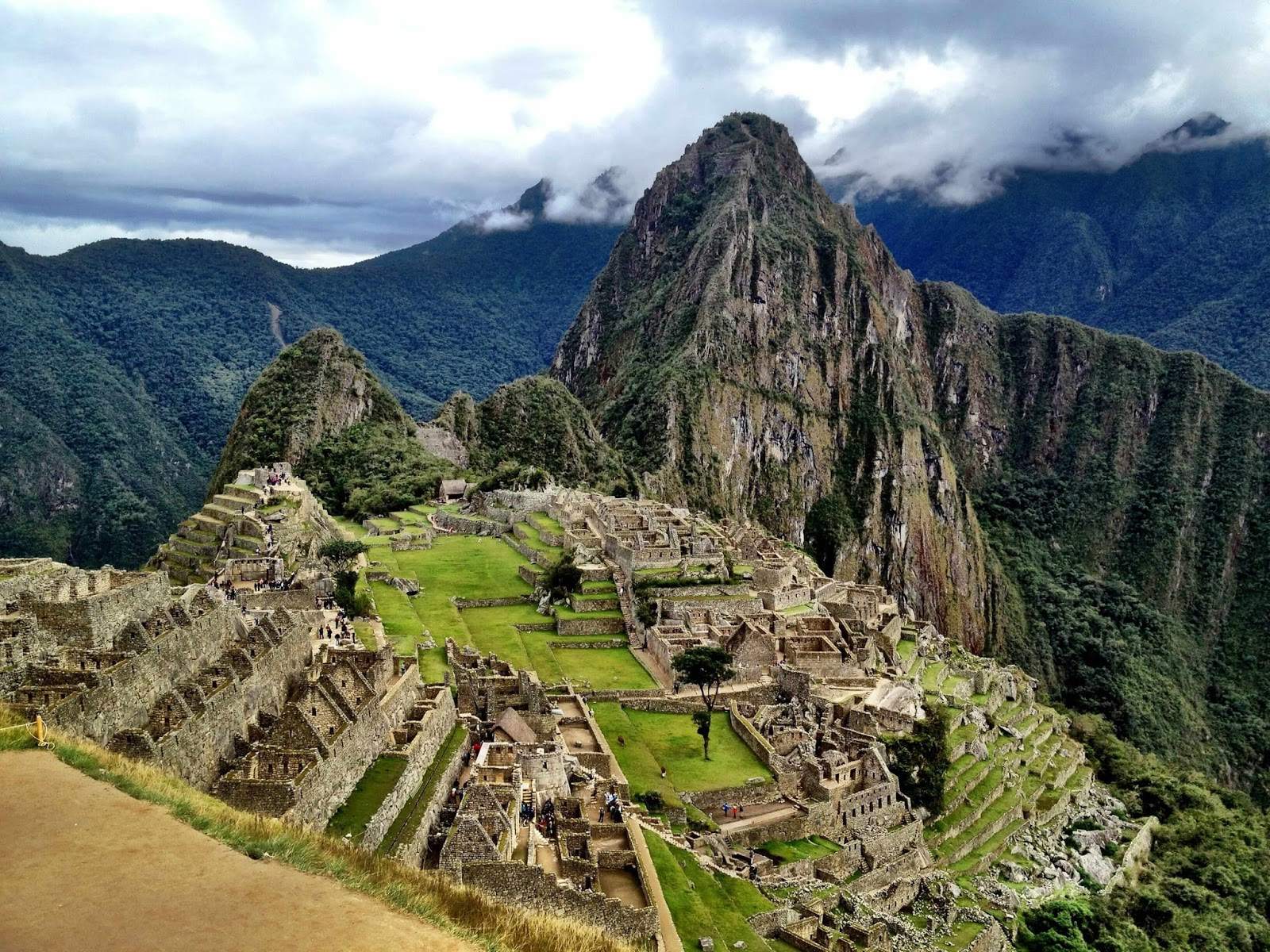 The glorious view of Machu Picchu, at the end of the Inca Trail