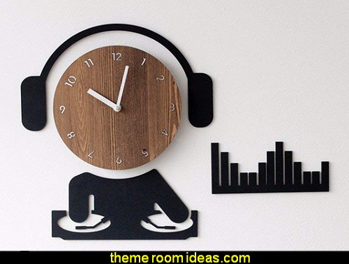 music themed wall clock  Music bedroom decorating ideas - rock star bedrooms - music theme bedrooms - music theme decor - music themed decorations - bedding with musical notes - music bedroom decor - music themed bedroom wallpaper - music bedrooms - music bedroom design -  music bedroom accessories - music decor for walls - band decorations rock and roll - rock themed bedrooms - music bedding - music pillows - music comforters - music murals - Elvis