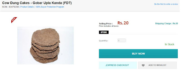 Shopclues cow dung buy