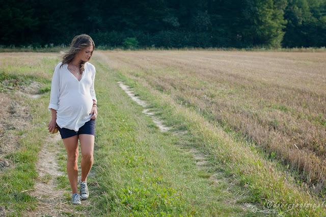 jak się ubierać pod koniec ciąży, letnie stylizacje ciążowe