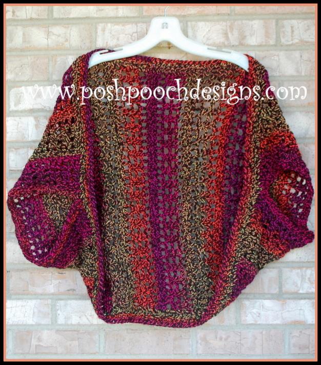 Posh Pooch Designs Dog Clothes Firecracker Shrug Free Crochet Pattern