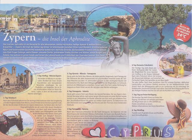 "Scan: Faltblatt ""Zypern"" La Strada Touristik GmbH / November 2018"