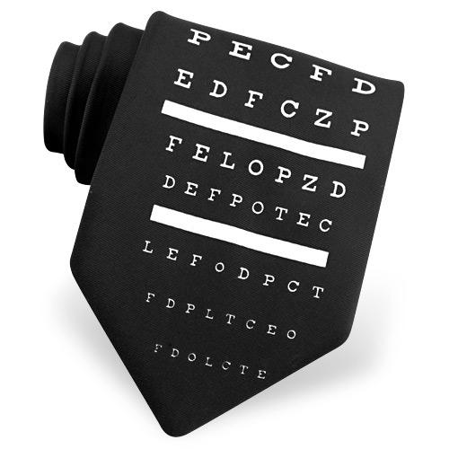 diseño de corbata oftalmologo