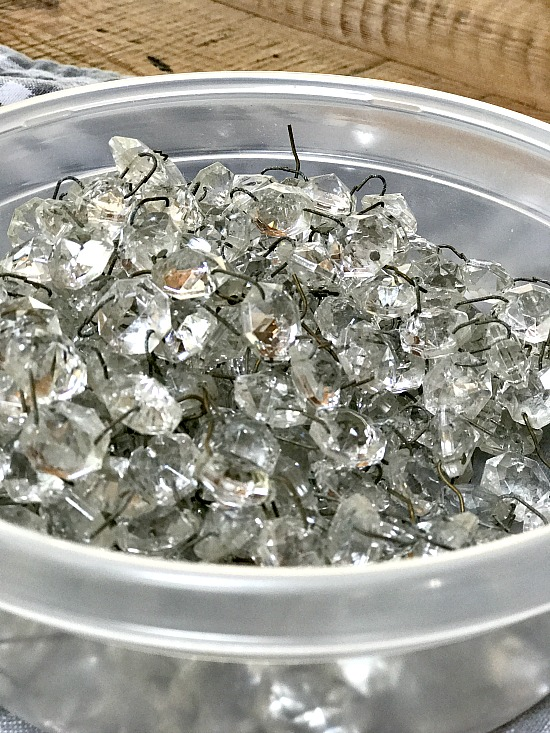 glass crystals from an old lamp