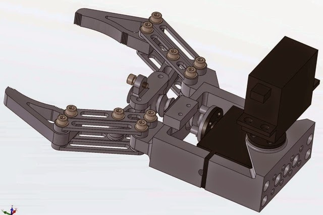 Andromina robot v robotic grippers compatible with
