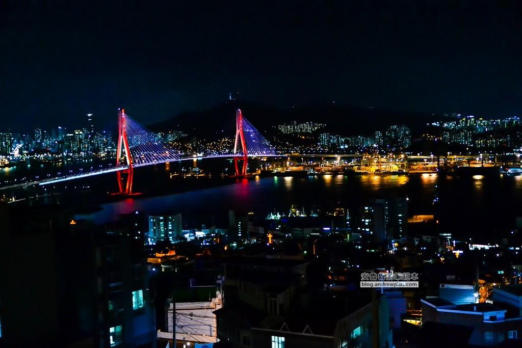 釜山港大橋,釜山夜景,釜山夜景咖啡館,廣安大橋夜景,sinki咖啡