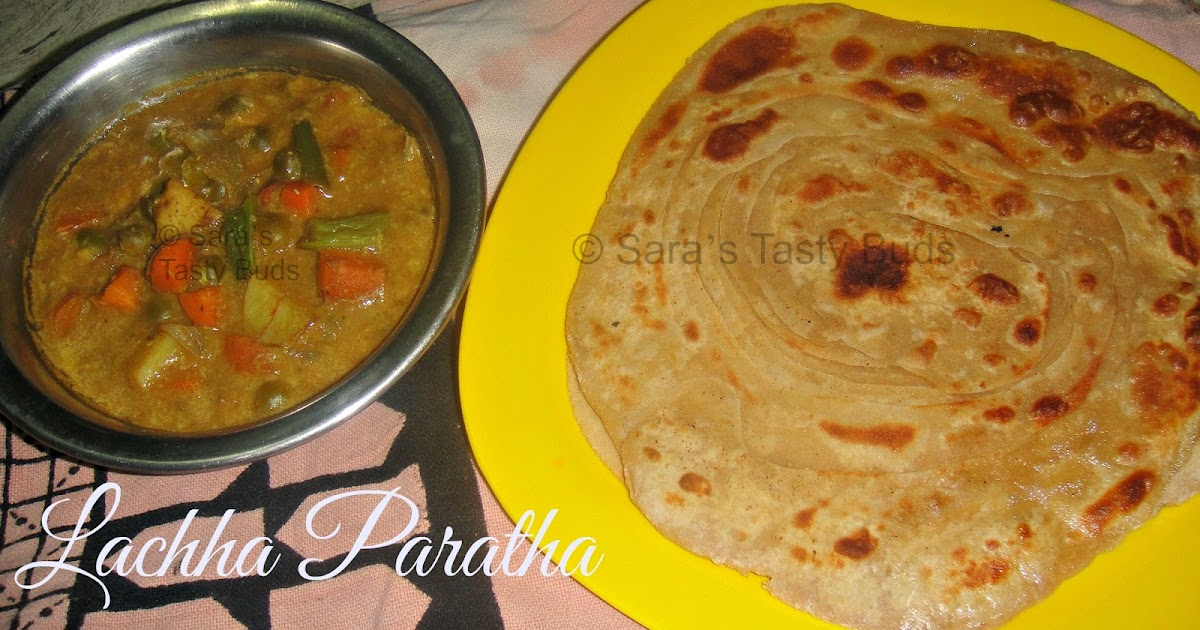 ... TASTY BUDS: Lachha Paratha / Indian Layered Flatbread #Breadbakers