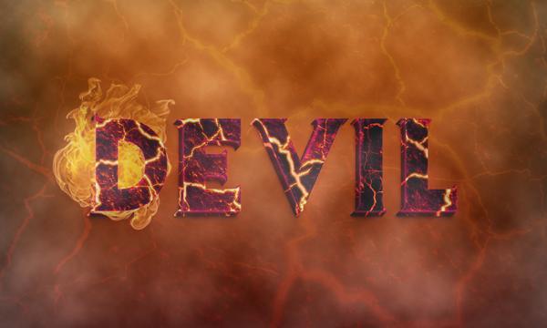 Tutorial Tạo hiệu ứng chữ ác quỷ 3D trong Photoshop