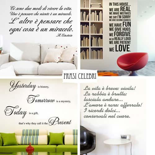 La tua frase preferita diventa adesivo murale. Stickers Murali Frasi Camera Da Letto