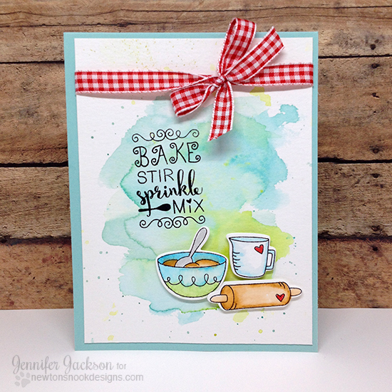 Kitchen/Baking card by Jennifer Jackson | Made from Scratch Stamp set & Die Set by Newton's Nook Designs #newtonsnook