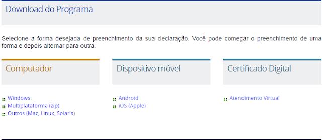 programa irpf download