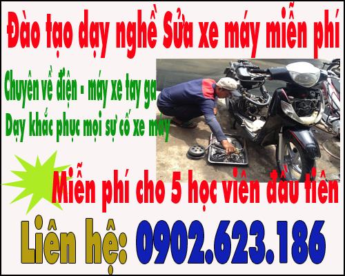 Dạy nghề sửa xe máy chuyên nghiệp miễn phí tại Tphcm