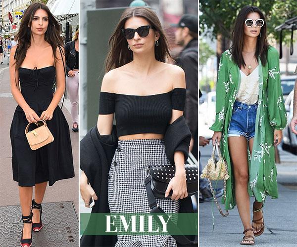 emily ratajkowski closet shop her style