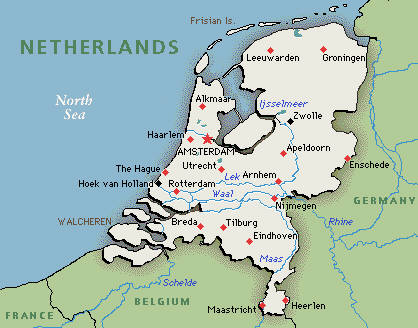 Maps of Netherlands Holland,Cities,Tourist: Political Map of ...