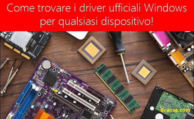 Come trovare i driver Windows ufficiali per qualsiasi dispositivo