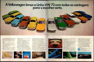 propaganda Linha Volkswagen 1973