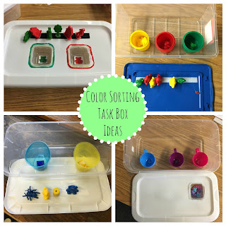 Simple Task Box Ideas for Special Education