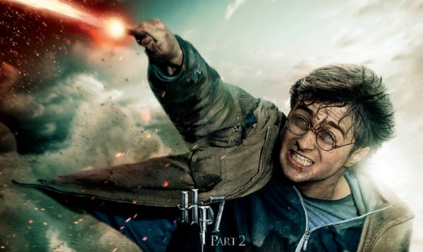 Harry Potter uses wand like a power bolt